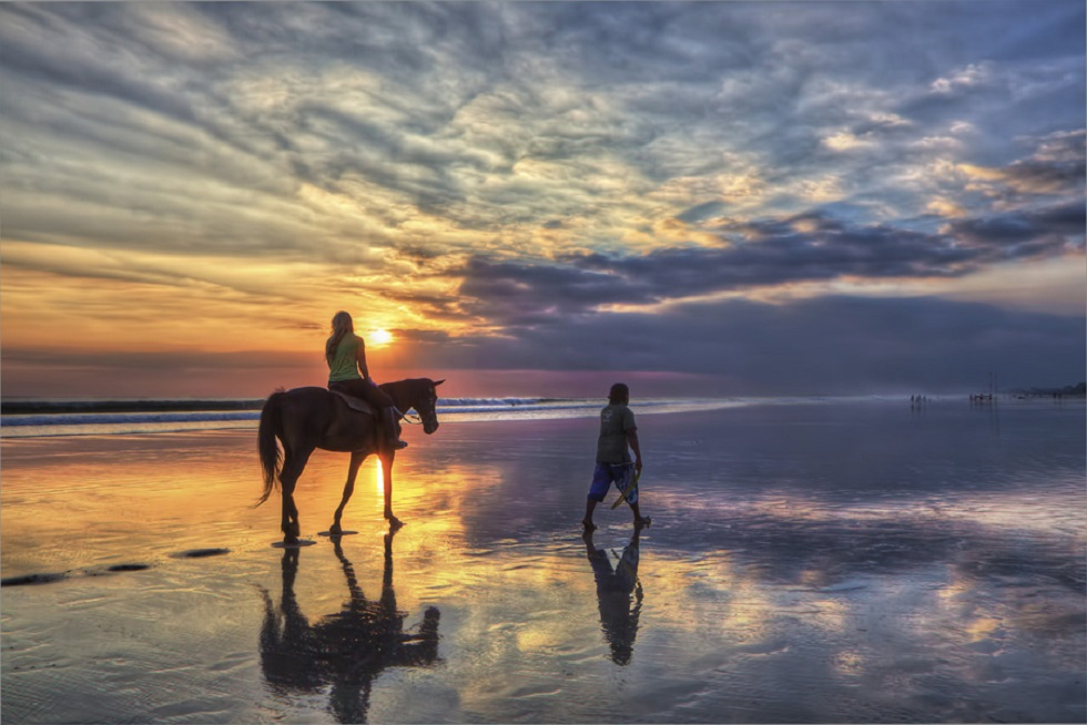 Indonesia Horseback Sunset