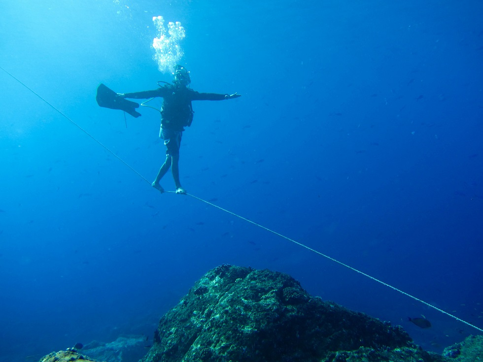 Indonesia Tightrope Diver