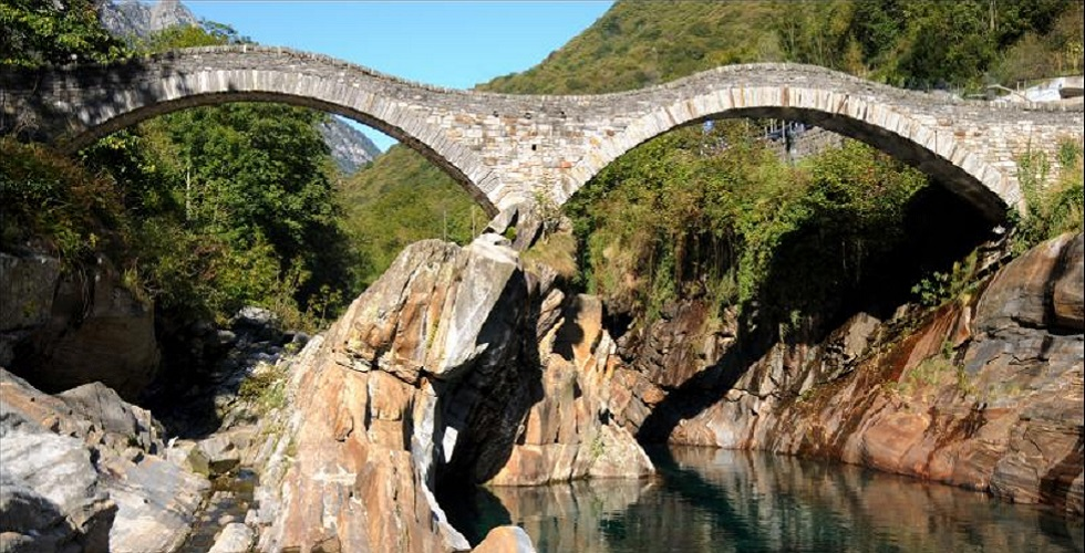 Verzasca Switzerland Roman Bridge