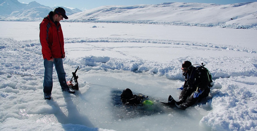 Descending Ice Divers