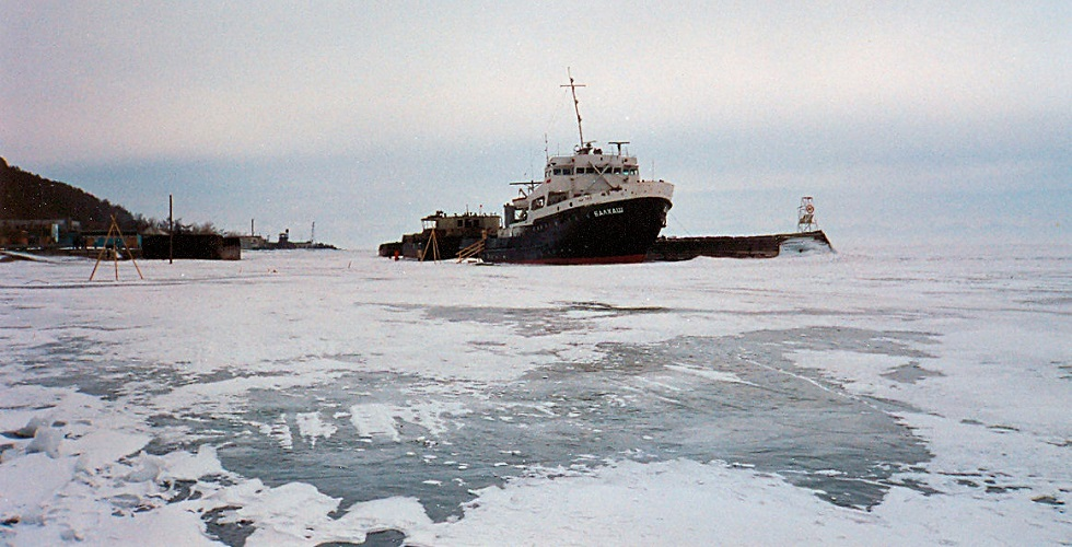 Lake Baikal Frozen Ship
