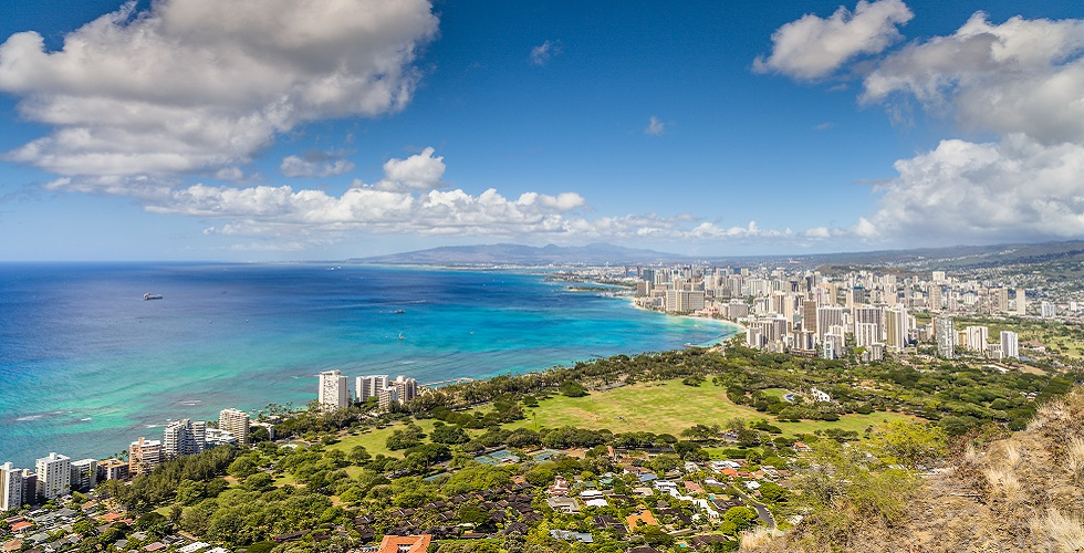 Honolulu Aerial View Oahu