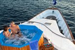 Relaxing at the pool on Liveaboard Galapagos Aggressor III