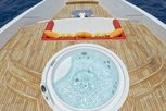 Relaxing at the pool on Liveaboard Maldives Blue Force One
