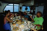 Breakfast on the Liveaboard Ocean Hunter I